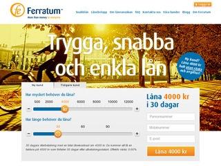 Grafik från Ferratum