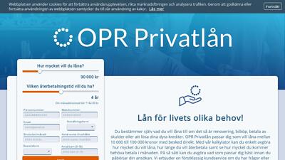 Grafik från OPR Privatlån