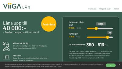 Grafik från Viiga lån